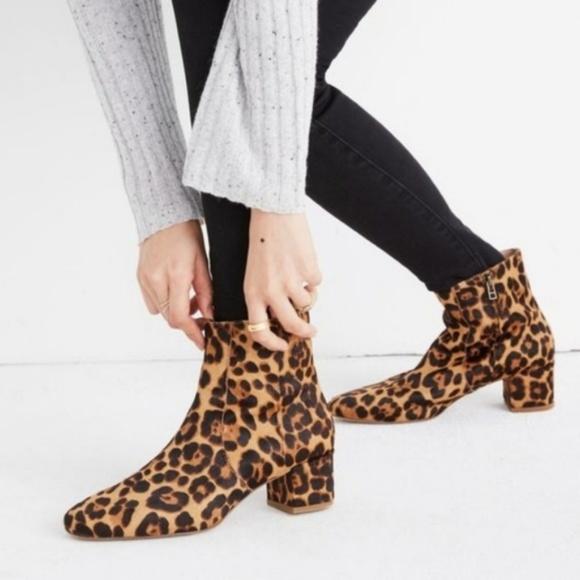 dcc19b6d91 Madewell Shoes   The Jada Boot In Leopard Calf Hair   Poshmark